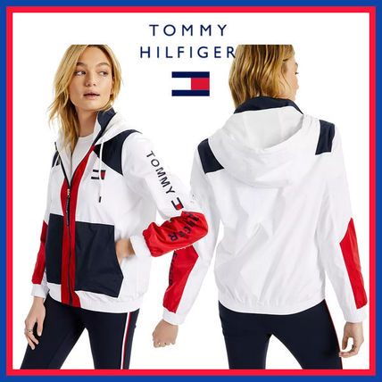 Tommy Hilfiger Stripes Casual Style Unisex Street Style Bi-color Plain Long