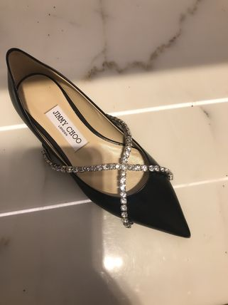 Jimmy Choo Plain Leather Party Style Elegant Style Formal Style  Bridal