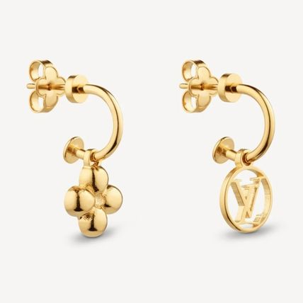 Louis Vuitton Casual Style Flower Party Style Elegant Style Earrings