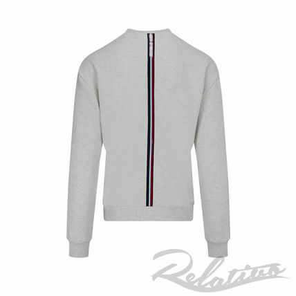 MONCLER Sweatshirts Crew Neck Pullovers Street Style Long Sleeves Cotton Logo 3