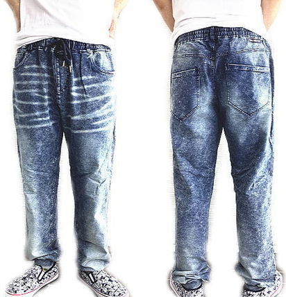 Ron Herman Denim Street Style Plain Cotton Logo Joggers Jeans