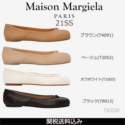 Maison Margiela Casual Style Plain Leather Party Style Logo Flats