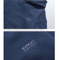 WV PROJECT Hoodies Unisex Studded Street Style Long Sleeves Plain Cotton 11