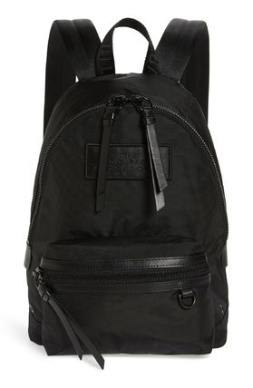 MARC JACOBS Casual Style Nylon Plain Leather Logo Backpacks