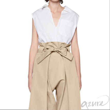 MARNI Casual Style Sleeveless Plain Cotton Office Style