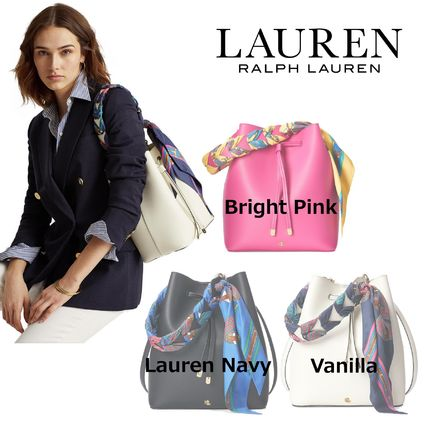 Ralph Lauren Casual Style Plain Leather Party Style Purses Office Style