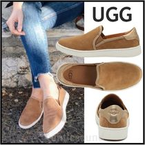 UGG Australia CAS Rubber Sole Casual Style Suede Plain Leather Elegant Style