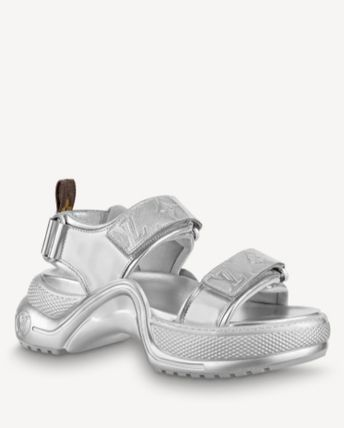 Louis Vuitton Open Toe Plain Logo Sandals