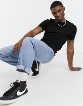 ASOS More T-Shirts Asos Design Knitted Muscle Fit T-Shirt In Black 4