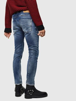 DIESEL JOGG JEANS Blended Fabrics Plain Cotton Street Style Jeans