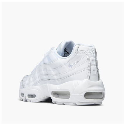 Nike AIR MAX 95 Unisex Street Style Plain Leather Sneakers