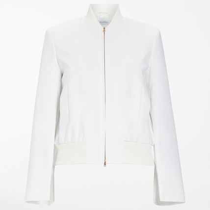 MaxMara Stretch Cotton Bomber Jacket
