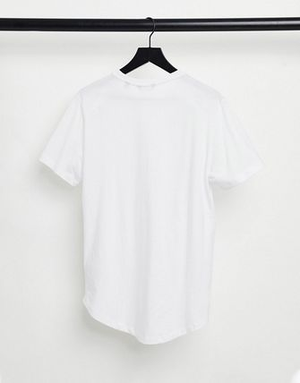ASOS Crew Neck Only & Sons 3 Pack Longline Curved Hem T-Shirt In White 3