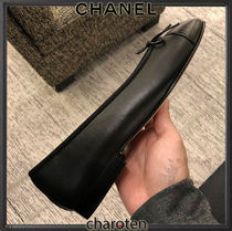 CHANEL TIMELESS CLASSICS Plain Toe Casual Style Plain Leather Party Style