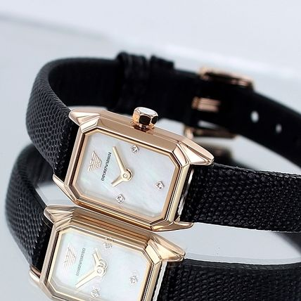 EMPORIO ARMANI Formal Style  Casual Style Square Party Style Quartz Watches