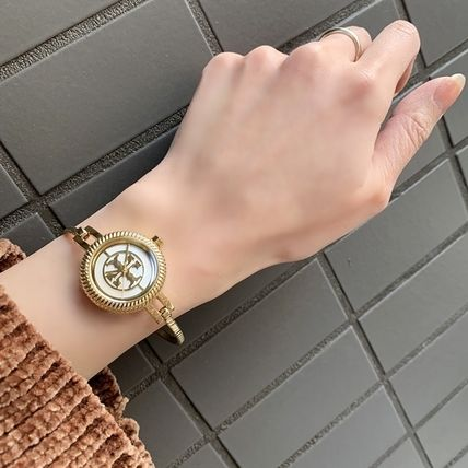 Tory Burch Round Formal Style  Casual Style Silicon Party Style