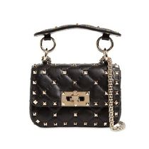 VALENTINO Casual Style Blended Fabrics Studded Street Style Leather