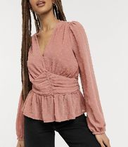 New Look Casual Style Long Sleeves Shirts & Blouses