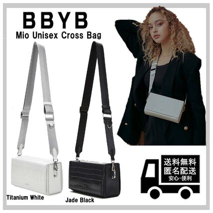 BBYB Shoulder Bags Casual Style Unisex Leather Office Style Crossbody Logo