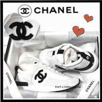 CHANEL SPORTS Casual Style Unisex Suede Bi-color Plain Leather