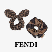 FENDI Scrunchy Casual Style Office Style Elegant Style Co-ord