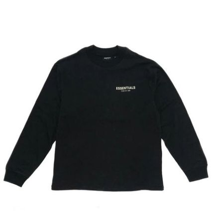 FEAR OF GOD ESSENTIALS Crew Neck Pullovers Unisex Nylon Street Style Long Sleeves