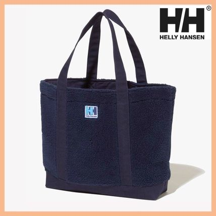 Shearling Logo Unisex Street Style Totes