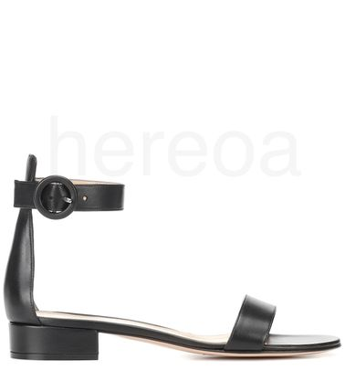 Gianvito Rossi More Sandals Casual Style Plain Leather Elegant Style Mules Strap Sandals 3