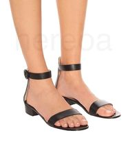 Gianvito Rossi More Sandals Casual Style Plain Leather Elegant Style Mules Strap Sandals 7