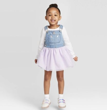 Glitter Icy Color Kids Girl Dresses