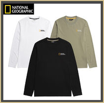 NATIONAL GEOGRAPHIC Casual Style Unisex Street Style Logo Tops