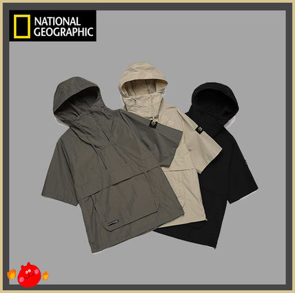NATIONAL GEOGRAPHIC Logo Unisex Street Style Tops