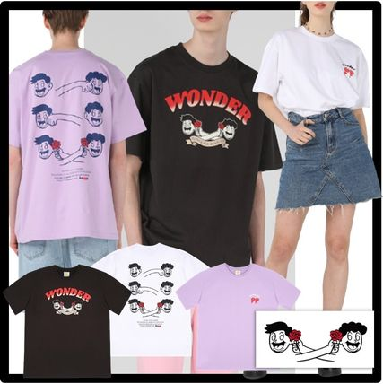 WONDER VISITOR More T-Shirts Unisex Street Style Graphic Prints T-Shirts