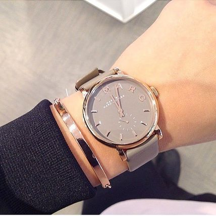 Marc by Marc Jacobs Round Casual Style Unisex Quartz Watches Elegant Style
