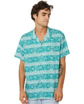 TCSS Button-down Flower Patterns Short Sleeves Surf Style Shirts