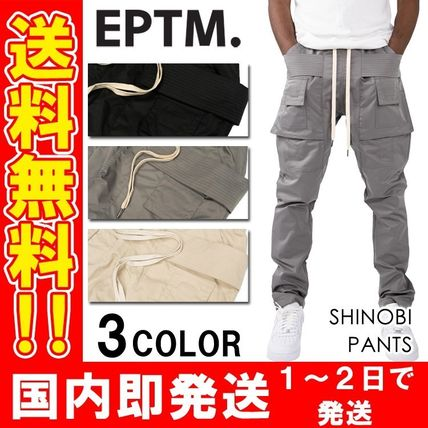 Tapered Pants Unisex Plain Street Style Tapered Pants