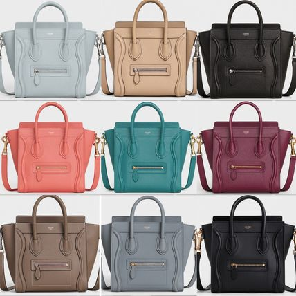 CELINE Luggage Nano Luggage Bag In Baby Drummed Calfskin