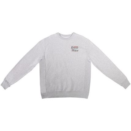Crew Neck Sweat Street Style Long Sleeves Cotton Logo