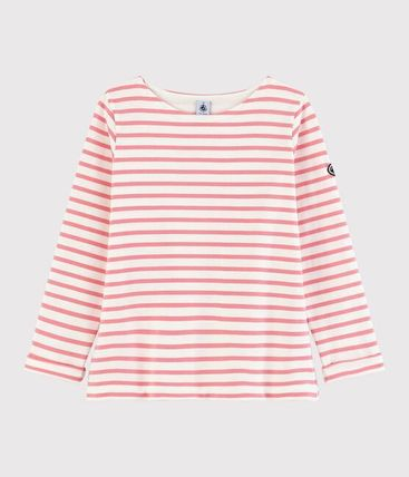 Crew Neck Stripes Long Sleeves Cotton Long Sleeve T-shirt