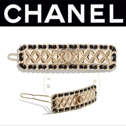 CHANEL ICON Costume Jewelry Barettes Casual Style Blended Fabrics