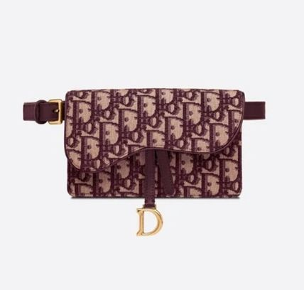 Christian Dior DIOR OBLIQUE Canvas Logo Casual Style Monogram 2WAY Leather Street Style