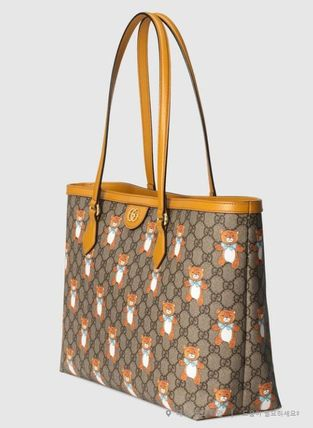 GUCCI Ophidia Logo Leather Totes