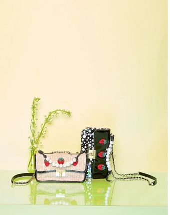 Dots Casual Style Office Style Elegant Style Crossbody