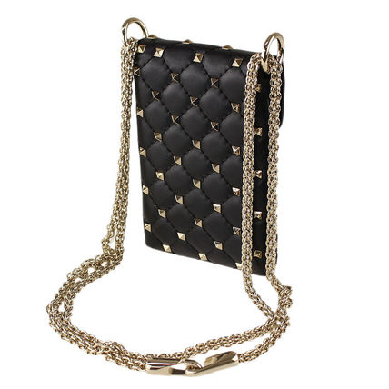 VALENTINO Crossbody Studded 2WAY Leather Elegant Style Shoulder Bags
