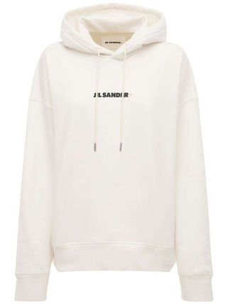Jil Sander Unisex Rib Long Sleeves Cotton Oversized Logo