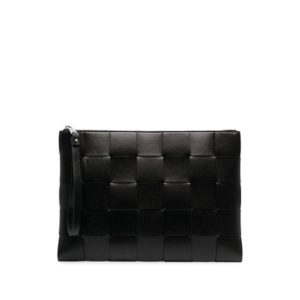 BOTTEGA VENETA Unisex 2WAY Leather Clutches