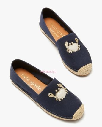 kate spade new york Stripes Casual Style Flats