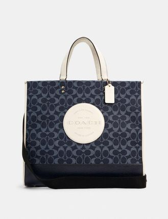 Coach Dempsey Tote 40 In Signature Jacquard With Patch