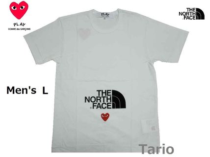PLAY COMME des GARCONS More T-Shirts Heart Street Style Collaboration Cotton Short Sleeves Logo