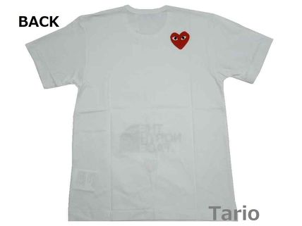 Logo Heart Collaboration Cotton Short Sleeves Street Style